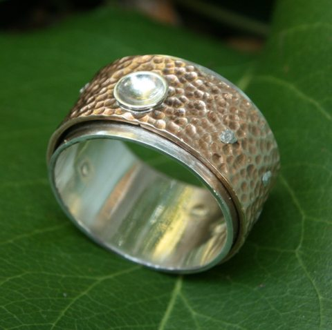 "<p style=""text-align: center;""><span style=""font-size: 12pt;""><strong>TJs Bronze Silver Ring</strong></span></p>"